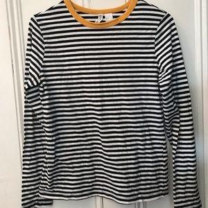 🌿2/12 Striped H&M long sleeve shirt